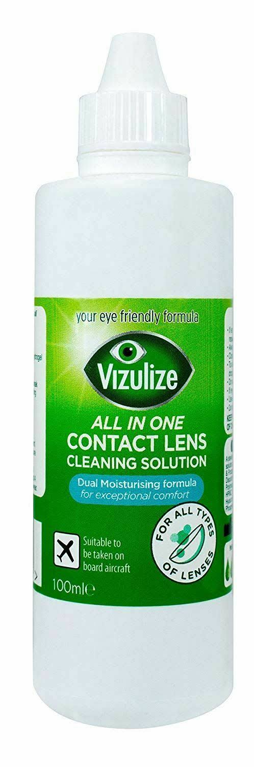 Vizulize All-in-One Contact Lens Solution, Travel Size, 100ml
