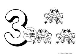 Download Coloring Pages Numbers 3 For Kids Printable Free Digits