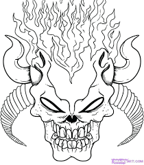 Scary Monster Coloring Sheets Pumpkin Pages For Adults Skulls Pictures Free Printable Full Size