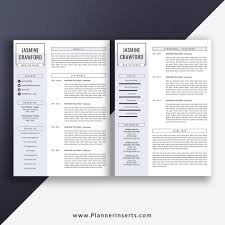 Editable Professional Resume Template 2019, Cover Letter, Office Word  Resume, Simple CV Template, Creative & Modern Resume, Instant Download:  Jasmine ...
