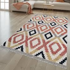 wohnzimmer teppich ethno design handgewebt mit wolle und