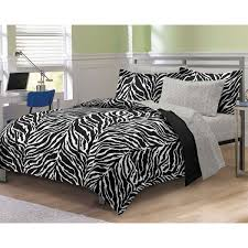 My Room Zebra Complete Bed In A Bag Bedding Set BlackWhite