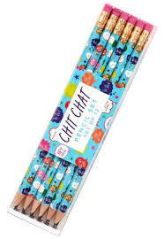 Chit Chat Set of 12 Pencils with Words