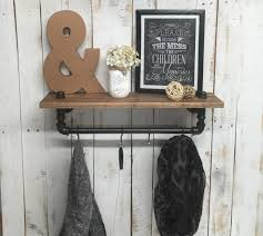 Coat Rack Wall Rustic Shelf