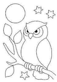 Owl Coloring Page Would Also Make A Good Embroidery Design