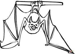 Click The Bat Hanging Upside Down Coloring Pages To View Printable