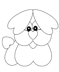 Dog Valentine Coloring Pages