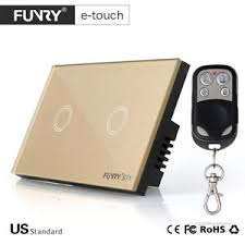 funry us panel smart touch wall light switch 2 1 way