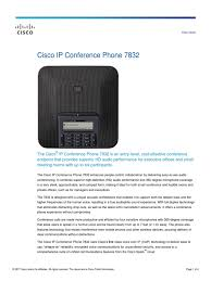 Cisco IP Conference Phone 7832 Data Sheet | Session Initiation ... Cisco 7940g Telephone Review Systemsxchange Linksys Spa921 Ip Refurbished Looks New Cp7962g 7962g 6 Button Sccp Voip Poe Phone Stand Handset Unified Conference 8831 Phone English Tlphonie Montral Medwave Optique Amazoncom Polycom Cx3000 For Microsoft Lync Cp8831 Ip Base W Control Unit T3 Spa 303 3line Electronics 2line Cp7940grf Phones Panasonic Desktop Versature Grandstream Gac2500 Audio Warehouse