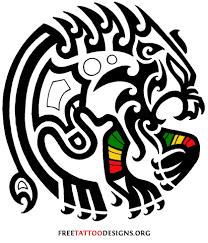 Tribal Lion Tattoo Design For Strength