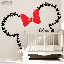 chambre minnie mouse mickey mouse ears with bow personalized baby name minnie mouse