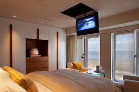 Plain Master Bedroom Tv Wall Sala De Estar Lume Com Puff Roble In Amazing Ideas