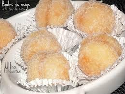 boule de neige petits gâteaux fondants à la noix de coco pour l