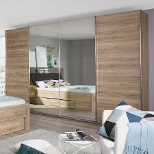 rauch pack s schwebetürenschrank bensheim eiche sanremo dekor mit spiegel 271x211x62 4 türig spanplatte modern