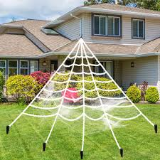 5FT150cm Hairy Giant Spider Decorations Huge Halloween Outdoor Decor Toys For Party