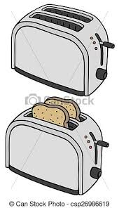 Hand Drawing Of Two Electric Toasters Vector Clip Art