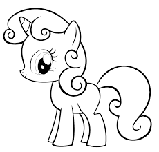 Unbelievable My Little Pony Sweetie Belle Coloring Pages With Printable And