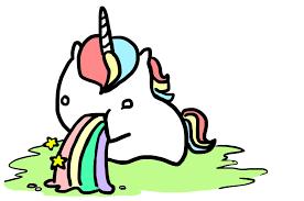 Unicorn Barfing Rainbows Clipart