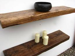 Reclaimed Chunky Floating Shelf Shelves Wooden Industrial