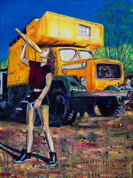100 Truck Art The Girl The Bread And The Yellow Painting By Emma Plunkett