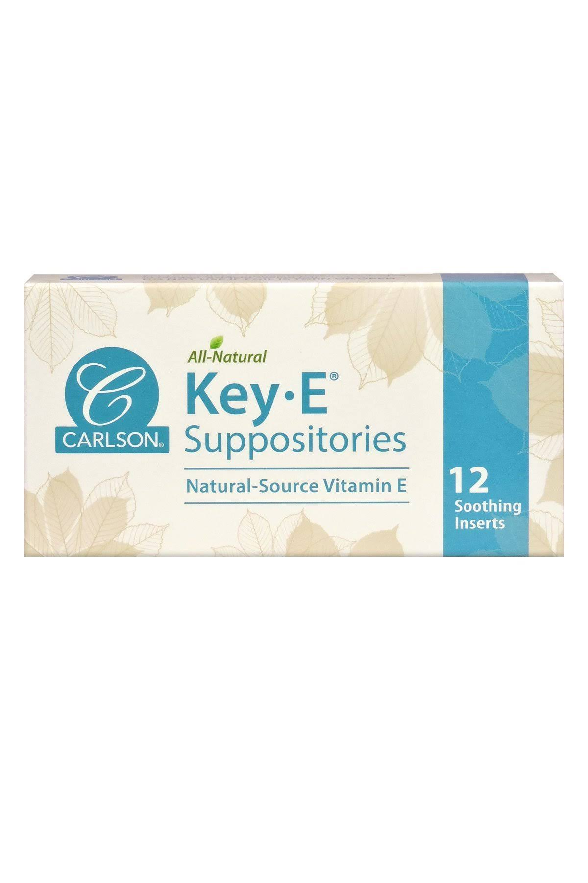 Carlson Key-E Suppositories with Vitamin E - 12 count