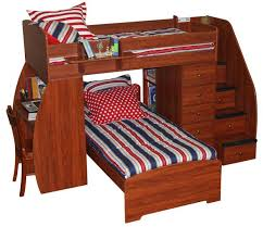 desks full loft bed with stairs bunk bed plans pdf full size