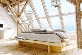 skandinavischen stil loft schlafzimmer innenraum stockfoto und mehr bilder architektur