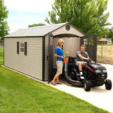 Tractor Supply Storage Sheds by Lawn Mower Ga Suncast Stow Away 3 Ft 8 In X 5 Ft 11 In Resin