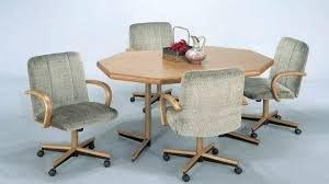 Swivel Dining Room Chairs Casters Excellent For Set With Swivel