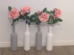 Decorative Wine Bottles Diy by Up Cycled Wine Bottles Painted With Annie Sloan Chalk Paint Grey