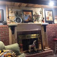 Wooden Pallet Accent Fireplace Mantle Wall And Shelf Project