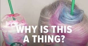 The Unicorn Frappuccino Is Now A Hairstyle