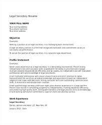 Resume Cover Letter Secretary Position Legal Template