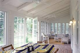 Rustic Sunroom Decorating Ideas Farmhouse With Horizontal Paneling Patio Furniture