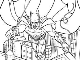 Batman Flying Coloring Pages Hellokidscom
