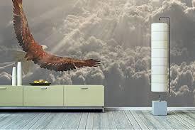 papier peint intisse chambre tableaux papier peint intissé photo aigle en vol papier