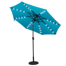 Solar Lighted Patio Umbrella by Powered 32 Led Lighted Outdoor Patio Umbrella With Crank And Tilt