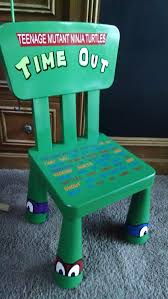 Ninja Turtle Themed Bathroom by Teenage Mutant Ninja Turtle Time Out Chair By Frommypaintedheart