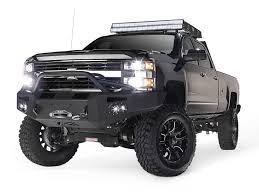 Premium Heavy Duty Winch Front Bumper - Aftermarket Truck Accessories