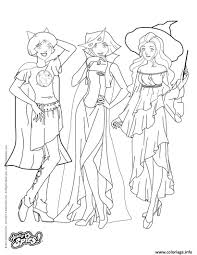 Coloriage Totally Spies Halloween JeColoriecom