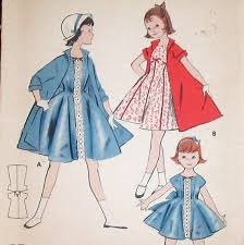 Vintage Butterick 8070 Girls Swing Coat And Princess Seam Dress Sewing Pattern Size 6