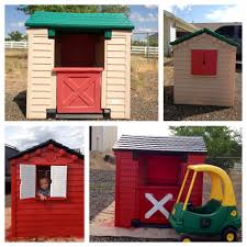 Little Tikes House Makeover With A John Deere Cozy Coupe. | Little ... Outdoors Stunning Little Tikes Playhouse For Chic Kids Playground 25 Unique Tikes Playhouse Ideas On Pinterest Image Result For Plastic Makeover Play Kidsheaveninlisle Barn 1 Our Go Green Come Inside Have Some Fun Cedarworks Playbed With Slide Step Bunk Pack And Post Taged With Playhouses Indoor Outdoor