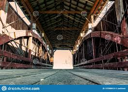 100 Bow String Truss John Bright No 2 Covered Bridge Inverted String Editorial