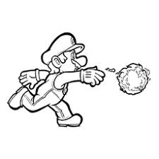 Mario With Fire Ball And Luigi Coloring Pages