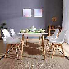 Image Is Loading Set Of 4 Dining Chair Retro Room On