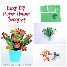 3d Paper Flower Bouquet Craft For Kids Crafty Morning