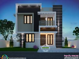 100 Box House Designs Small Box Model House With 3 Bedrooms Kerala Home Design