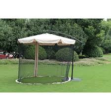 Offset Patio Umbrella W Mosquito Netting by 10 U0027 Offset Umbrella With Mosquito Netting