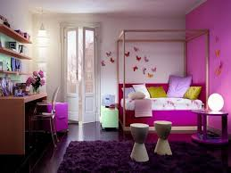 Astonishing Design Of The Teen Bedroom Decor With Pink Wall Also Purple Rugs Ideas And Brown