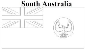 South Australia Flag Coloring Page